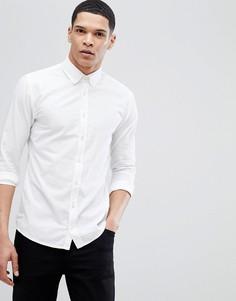 Белая узкая рубашка в строгом стиле BOSS - Белый