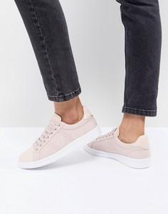 Кроссовки на шнуровке с лакированной отделкой Fred Perry - Розовый