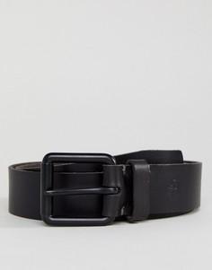 Черный кожаный ремень с небольшим логотипом Timberland - Черный
