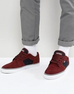 Бордовые кроссовки Etnies Barge LS - Красный