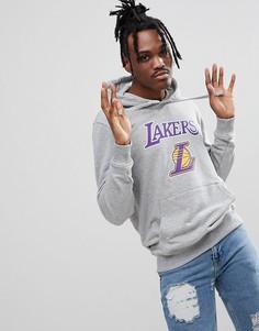 Худи серого цвета New Era NBA LA Lakers - Серый