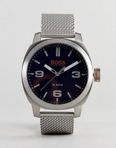 Часы с синим циферблатом BOSS Orange By Hugo Boss Hong Kong - Серебряный