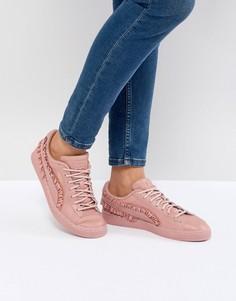 Классические кроссовки с оборками Puma - Розовый