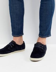 Темно-синие низкие замшевые туфли Fred Perry Byron - Темно-синий