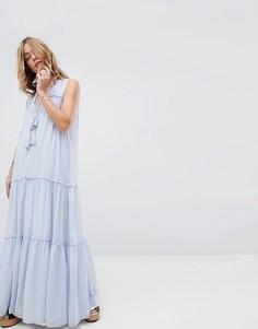 Платье Free People River Gorge - Синий