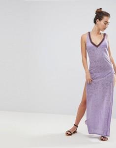Пляжное платье макси River Island - Фиолетовый