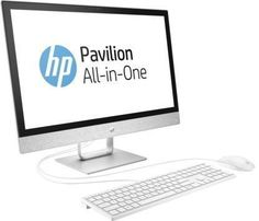 Моноблок HP Pavilion 24-r024ur, Intel Core i7 7700T, 8Гб, 1000Гб, AMD Radeon 530 - 2048 Мб, DVD-RW, Windows 10, белый [2mj49ea]