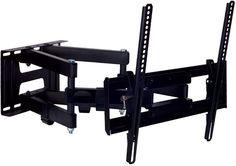 """Кронштейн для телевизора Kromax PIXIS-L черный 22""""-65"""" макс.50кг настенный поворот и наклон [26016]"""