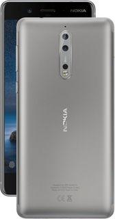 Смартфон NOKIA 8 Dual sim, серебристый
