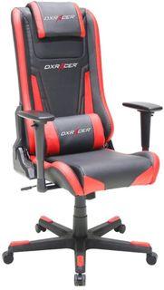 Кресло игровое DXRACER Elite GC-E01-NR-A2, на колесиках, эко.кожа [oh/ea01/nr]