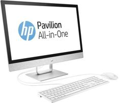 Моноблок HP Pavilion 24-r013ur, Intel Core i3 7100T, 8Гб, 1000Гб, AMD Radeon 530 - 2048 Мб, DVD-RW, Windows 10, белый [2mj42ea]