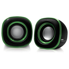 Колонки BBK CA-301S, черный, зеленый
