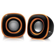 Колонки BBK CA-301S, черный, оранжевый