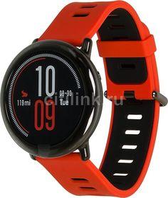 """Смарт-часы XIAOMI Amazfit PACE, 1.34"""", черный / красный [xm6970100370348]"""