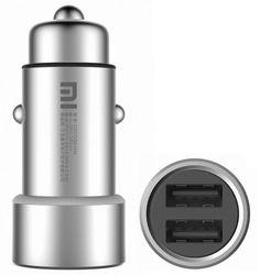 Автомобильное зарядное устройство XIAOMI 2.4A, серебристый