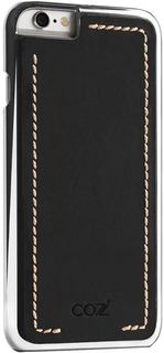 Чехол (клип-кейс) Cozistyle Leather Chrome, для Apple iPhone 6/6S, черный [clcc6010] Noname