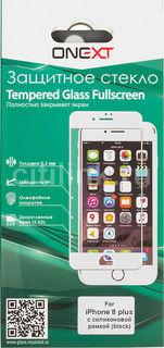Защитное стекло для экрана ONEXT для Apple iPhone 8 Plus, 1 шт, черный [41500]