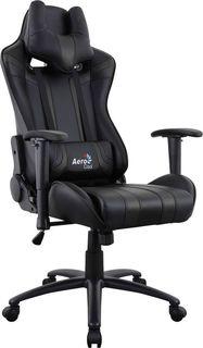 Кресло игровое AEROCOOL AC120 AIR-B, ПВХ/полиуретан [516662]