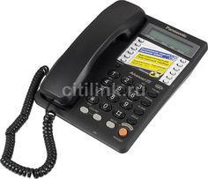 Проводной телефон PANASONIC KX-TS2365RUB, черный