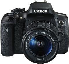 Зеркальный фотоаппарат CANON EOS 750D kit ( EF-S 18-55mm f/3.5-5.6 IS STM), черный