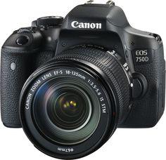 Зеркальный фотоаппарат CANON EOS 750D kit ( EF-S 18-135mm f/3.5-5.6 IS STM), черный