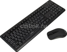Комплект (клавиатура+мышь) OKLICK 270M, USB, беспроводной, черный [mk-5306]