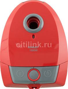 Пылесос SCARLETT SC-VC80B07, 1500Вт, красный/серый