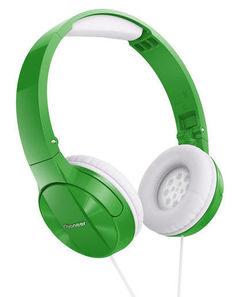 Наушники PIONEER SE-MJ503-G, мониторы, зеленый/белый, проводные