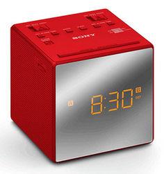Радиобудильник SONY ICF-C1T, оранжевая подсветка, красный
