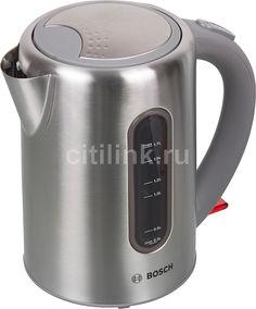 Чайник электрический BOSCH TWK7901, 2200Вт, серебристый