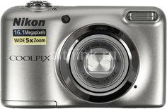 Цифровой фотоаппарат NIKON CoolPix A10, серебристый