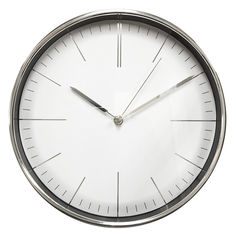 Настенные часы БЮРОКРАТ WallC-R28P, аналоговые, хром