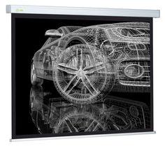 Экран CACTUS Wallscreen CS-PSW-213x213, 213х213 см, 1:1, настенно-потолочный белый