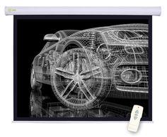 Экран CACTUS Motoscreen CS-PSM-150x150, 150х150 см, 1:1, настенно-потолочный