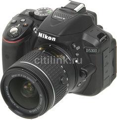 Зеркальный фотоаппарат NIKON D5300 kit ( AF-P 18-55mm f/3.5-5.6VR), черный