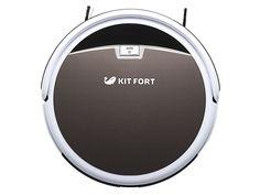 Робот-пылесос KITFORT КТ-519-4, 20Вт, коричневый/белый