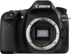Зеркальный фотоаппарат CANON EOS 80D body, черный