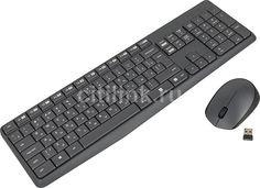 Комплект (клавиатура+мышь) LOGITECH MK235, USB, беспроводной, черный [920-007948]