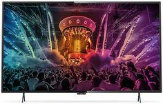 """LED телевизор PHILIPS 55PUT6101/60 """"R"""", 55"""", Ultra HD 4K (2160p), черный"""