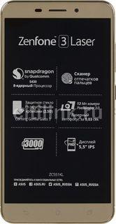 Смартфон ASUS ZenFone ZF3 Laser 32Gb, ZC551KL, золотистый