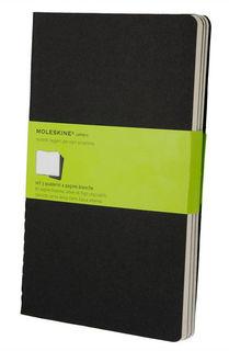 Блокнот Moleskine CAHIER JOURNAL XLarge 190х250мм обложка картон 120стр. нелинованный черный (3шт) [qp323]