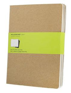 Блокнот Moleskine CAHIER JOURNAL XLarge 190х250мм обложка картон 120стр. нелинованный бежевый (3шт) [qp423]