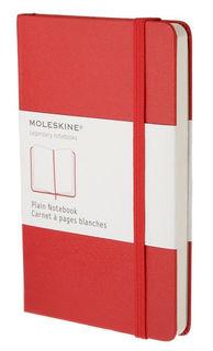 Блокнот Moleskine CLASSIC POCKET 90x140мм 192стр. нелинованный твердая обложка фиксирующая резинка к [qp012r]