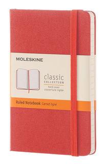 Блокнот Moleskine CLASSIC POCKET 90x140мм 192стр. линейка твердая обложка фиксирующая резинка оранже [mm710f16]