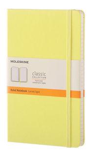 Блокнот Moleskine CLASSIC LARGE 130х210мм 240стр. линейка твердая обложка фиксирующая резинка желтый [qp060m12]