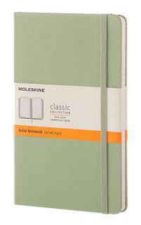 Блокнот Moleskine CLASSIC LARGE 130х210мм 240стр. линейка твердая обложка фиксирующая резинка зелена [qp060k12]