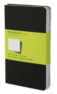 Блокнот Moleskine CAHIER JOURNAL POCKET 90x140мм обложка картон 64стр. нелинованный черный (3шт) [qp313]