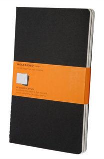 Блокнот Moleskine CAHIER JOURNAL LARGE 130х210мм обложка картон 80стр. линейка черный (3шт) [qp316]