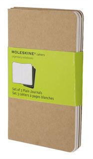Блокнот Moleskine CAHIER JOURNAL POCKET 90x140мм обложка картон 64стр. нелинованный бежевый (3шт) [qp413]