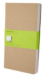 Блокнот Moleskine CAHIER JOURNAL LARGE 130х210мм обложка картон 80стр. нелинованный бежевый (3шт) [qp418]